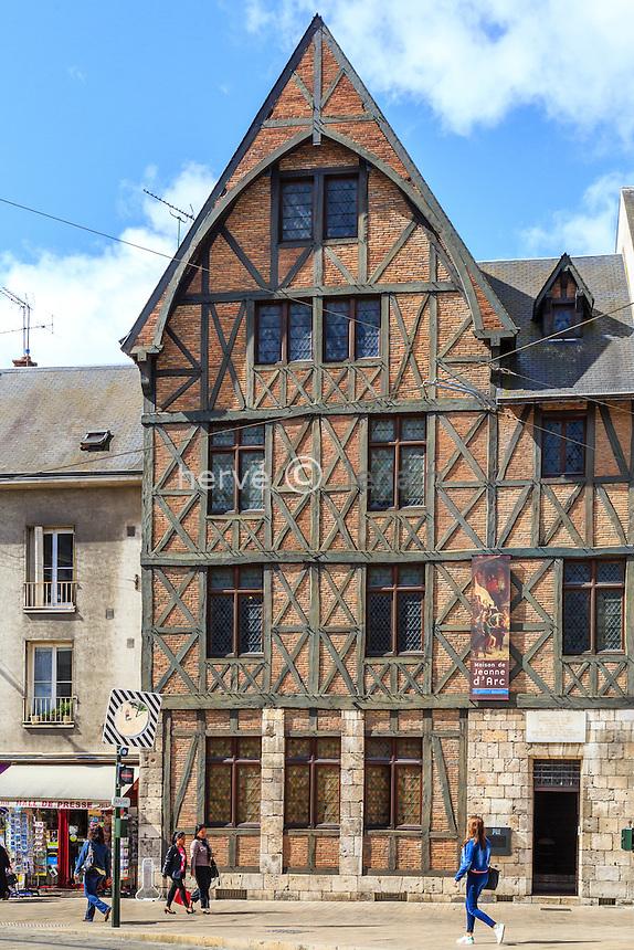 France, Loiret (45), Orléans, maison de Jeanne d'Arc qui regroupe une salle multimédia et un centre de recherche et de documentation  // France, Loiret, Orleans, Jeanne d'Arc house