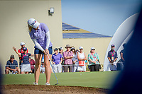 Jodi Ewart Shadoff holes her birdie putt on the 18th hole during the third round of the ISPS Handa Women&rsquo;s Australian Open, The Grange Golf Club, Adelaide SA 5022, Australia, on Saturday 16th February 2019.<br /> <br /> Picture: Golffile | David Brand<br /> <br /> <br /> All photo usage must carry mandatory copyright credit (&copy; Golffile | David Brand)