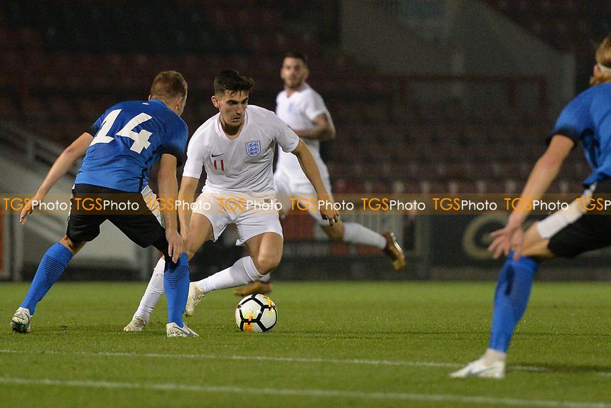 Thomas Walker Of England C and Salfoed City FC during England C vs Estonia Under-23, International Friendly Match Football at The Breyer Group Stadium on 10th October 2018