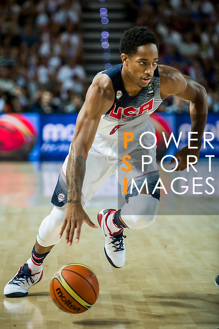 DeMar De Rozan of United States of America during FIBA Basketball World Cup 2014 group C between United States of America vs New Zeland  on September 02, 2014 at the Bilbao Arena stadium in Bilbao, Spain. Photo by Nacho Cubero / Power Sport Images