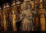 Ashura-o King of the Ashura, Senju Kannon 1000-armed Kannon Statues, Hinoki Japanese Cypress, 12th century, Sanjusangendo Rengeo-in, Kyoto, Japan