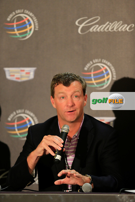 Gil Hanse during the press conference at the WGC Cadillac Championship, Blue Monster, Trump National Doral, Miami, Florida,USA.<br /> Picture: Fran Caffrey www.golffile.ie