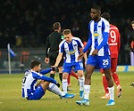 19.01.2020, OLympiastadion, Berlin, GER, DFL, 1.FBL, Hertha BSC VS. Bayern Muenchen, <br /> DFL  regulations prohibit any use of photographs as image sequences and/or quasi-video<br /> im Bild Marko Grujic (Hertha BSC Berlin #15), Santiago Ascacibar (Hertha BSC Berlin #18)<br /> <br />       <br /> Foto © nordphoto / Engler