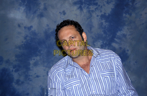 VINCE VAUGHN.March 2005.half length blue striped shirt chest hair.www.capitalpictures.com.sales@capitalpictures.com.© Capital Pictures.