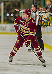 20 February 2016: Boston College Eagle Defenseman Teddy Doherty, a Senior from Hopkinton, MA, in action during the first period against the University of Vermont Catamounts at Gutterson Fieldhouse in Burlington, Vermont. The Eagles defeated the Catamounts 4-1 in the second game of their weekend series. Mandatory Credit: Ed Wolfstein Photo *** RAW (NEF) Image File Available ***