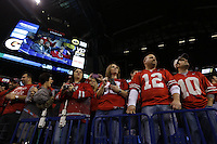 During the Big Ten Championship game at Lucas Oil Stadium in Indianapolis on Saturday, Dec. 7, 2013.   <br /> (Dispatch photo by Jonathan Quilter)