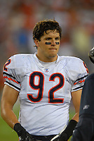 Oct. 16, 2006; Glendale, AZ, USA; Chicago Bears linebacker (92) Hunter Hillenmeyer against the Arizona Cardinals at University of Phoenix Stadium in Glendale, AZ. Mandatory Credit: Mark J. Rebilas