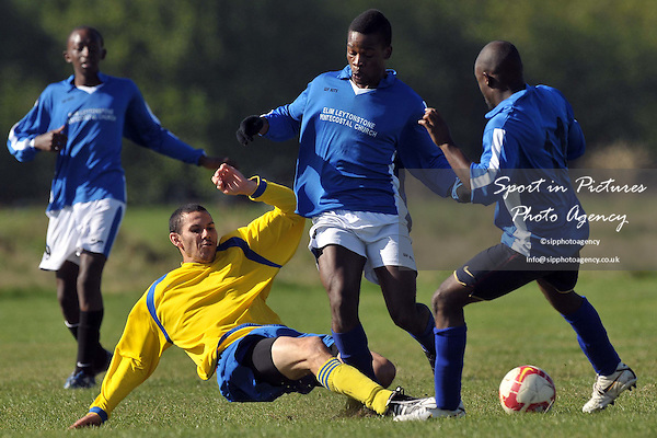 Elim Vs Enfield Evangelical. North East London and Essex Churches Football League. Wanstead Flats. London. 25/09/2010.  Credit Sportinpictures/Garry Bowden