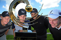 NZ amateurs, from left, James Anstiss, Dan Hillier, Ryan Chisnall and Kerry Mountcastle. 2017 Asia-Pacific Amateur Championship Media and Partner Golf Day at Royal Wellington Golf Club in Wellington, New Zealand on Monday, 16 October 2017. Photo: Dave Lintott / lintottphoto.co.nz