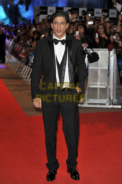Shah Rukh Khan.'RA. One' UK premiere at Cineworld, O2 Arena, Greenwich, London, England..25th October 2011.full length black tuxedo jacket bow tie white shirt waistcoat .CAP/MAR.© Martin Harris/Capital Pictures.