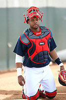 Carlos Santana. Cleveland Indians spring training workouts at their complex in Goodyear, AZ - 03/06/2010.Photo by:  Bill Mitchell/Four Seam Images.