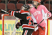 Kendall Coyne (Northeastern - 77), Kathryn Miller (BU - 4) - The Boston University Terriers defeated the visiting Northeastern University Huskies 3-2 on Saturday, January 28, 2012, at Agganis Arena in Boston, Massachusetts.