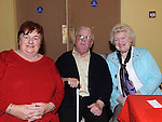 Mary Healy and Tommy and Tessie Berrill pictured at Olive Gallagher's 80th birthday in the Star and Crescent. Photo: Colin Bell/pressphotos.ie