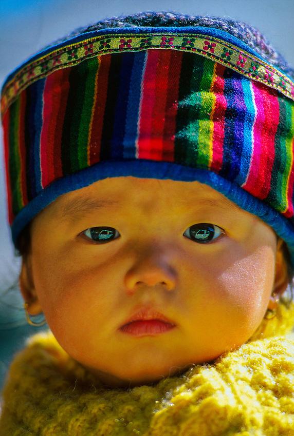 Nepalese baby, Darjeeling, West Bengal, India