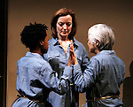 """Guiding Light's Orlagh Cassidy stars with Mirirai Sithole, Kitty Chen and Caitlin Cisco  in play as The Cell presents Origin Theatre Company with the North American Premiere of """"The Hundred We Are""""  at the dress rehearsal on March 16, 2016 through April 8 at the Cell Theatre on 23rd St, New York City, New York. (Photo by Sue Coflin/Max Photos)"""