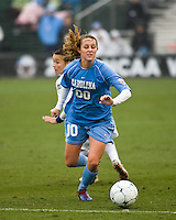 North Carolina forward Alyssa Rich (00) dribbles the ball. North Carolina defeated Stanford 1-0 to win the 2009 NCAA Women's College Cup at the Aggie Soccer Stadium in College Station, TX on December 6, 2009.