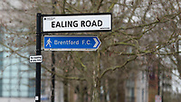 Road signage to Brentford FC during Brentford vs Middlesbrough, Sky Bet EFL Championship Football at Griffin Park on 8th February 2020