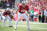 Wisconsin Badgers linebacker Andrew Van Ginkel (17) defends during an NCAA College Football game against the Florida Atlantic Owls Saturday, September 9, 2017, in Madison, Wis. The Badgers won 31-14. (Photo by David Stluka)