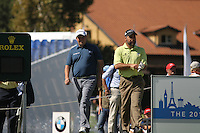 Shane Lowry (IRL) and Hennie Otto (RSA) during day 3 of the BMW Italian Open presented by CartaSi, at Royal Park I Roveri,Turin,Italy..Picture: Fran Caffrey/www.golffile.ie.