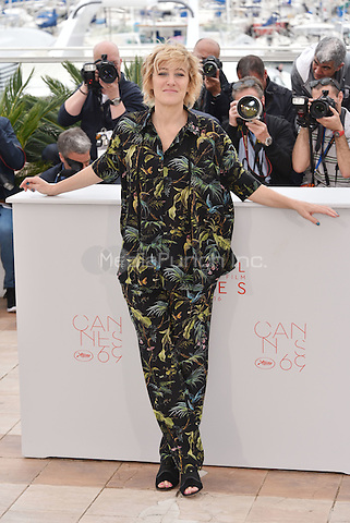 Valeria Bruni-Tedeschi at photocall for 'Ma Loute' on the Majestic Pier during the 69th International Cannes Film Festival, France May 13, 2016.<br /> CAP/PL<br /> &copy;Phil Loftus/Capital Pictures /MediaPunch ***NORTH AND SOUTH AMERICA ONLY***