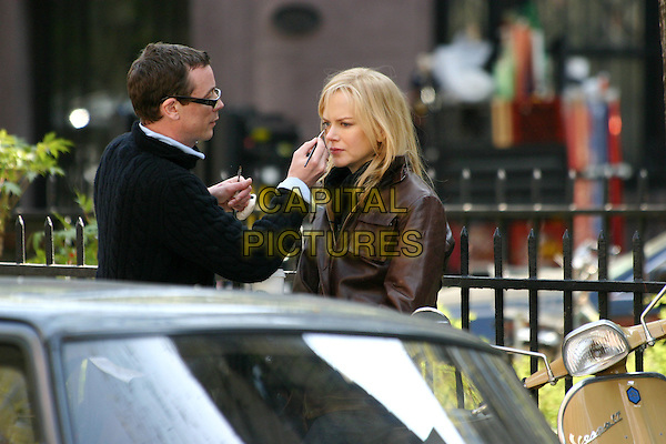 NICOLE KIDMAN.On the set of The Interpreter in New York City. .April 21, 2004.half length, half-length, make up.www.capitalpictures.com.sales@capitalpictures.com.© Capital Pictures.