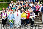 Fr Ailbe with some parisioners at the Blessing of the Lily's in the Friary Killarney on Tuesday