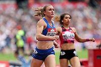 Sally Pearson of Australia competes in the womenís 100 metres hurdlesduring the Muller Anniversary Games at The London Stadium on 9th July 2017
