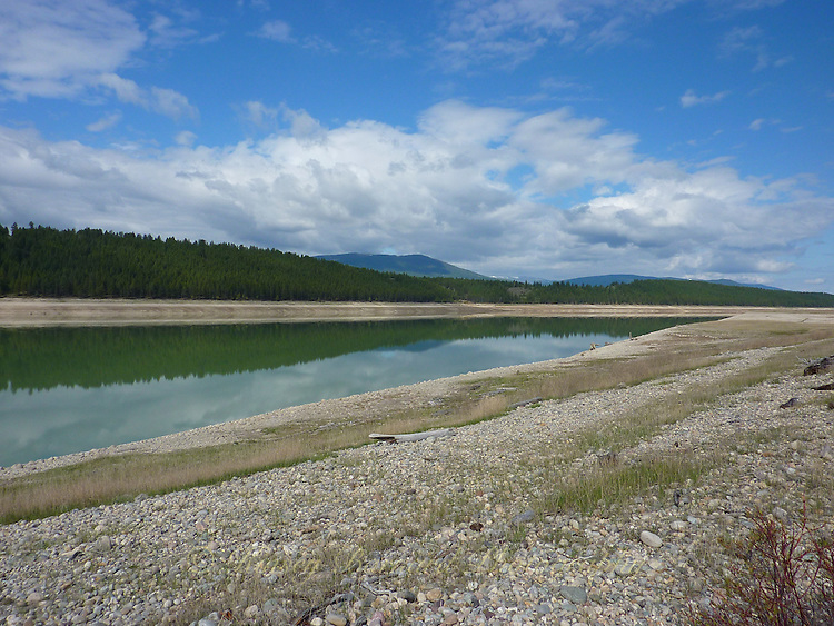 Kootenay River, British Columbia in early spring before spring melt.