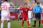 Nguyen Quang Hai of Vietnam reacts during the AFC Asian Cup UAE 2019 Group D match between Vietnam (VIE) and I.R. Iran (IRN) at Al Nahyan Stadium on 12 January 2019 in Abu Dhabi, United Arab Emirates. Photo by Marcio Rodrigo Machado / Power Sport Images