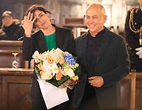 Cittadinanza onoraria di Napoli al regista  Ferzan Ozpetek. Nella foto con Luisa Ranieri