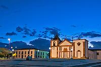 Praça e igreja na cidade de Oeiras. Piaui. 2016. Foto de Candido Neto.