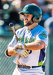 5 September 2016: Vermont Lake Monster infielder Nate Mondou in action against the Lowell Spinners at Centennial Field in Burlington, Vermont. The Lake Monsters defeated the Spinners 9-5 to close out their 2016 NY Penn League season. Mandatory Credit: Ed Wolfstein Photo *** RAW (NEF) Image File Available ***