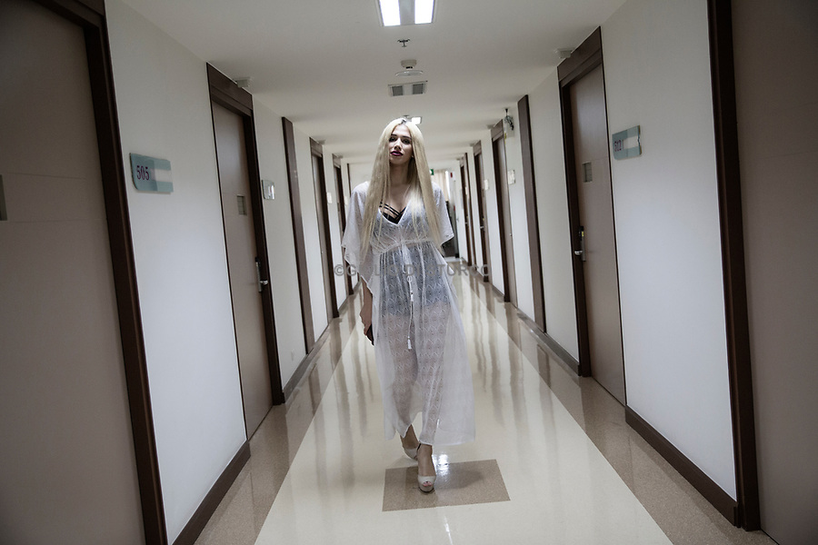A russian patient of sex reassignment at Kamol Hospital on February 16th 2016 in Bangkok, Thailand. <br />