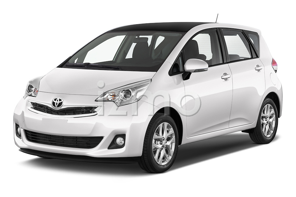 2015 Toyota Verso-S skyview 5 Door Hatchback 2WD Angular Front stock photos of front three quarter view