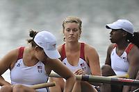 Amsterdam, NETHERLANDS,  USA BW4-   2011 FISA U23 World Rowing Championships, Thursday, 21/07/2011 [Mandatory credit:  Peter Spurrier/Intersport Images].