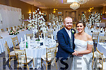 Denise O'Hanlon, Donoughmore, Co Cork, and Mark Blennerhassett, Milltown at their wedding reception in the Killarney Oaks Hotel on Saturday