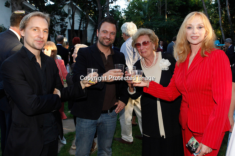 Composer Gerrit Wunder, Sybil Danning and her mother, Record Company executive Markus Unterberger.Austrian National Holiday Celebration with General Consul Dr Karin Proidl.Residenz of the Consul.Los Angeles, California.26 October 2009.Photo by Nina Prommer/Milestone Photo
