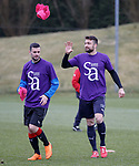 06.04.2018 Rangers training:<br /> Jamie Murphy and Russell Martin
