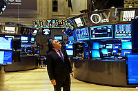 New York, April 14, 2015. Australian Treasurer Joe Hockey visit to New York Stock Exchange.