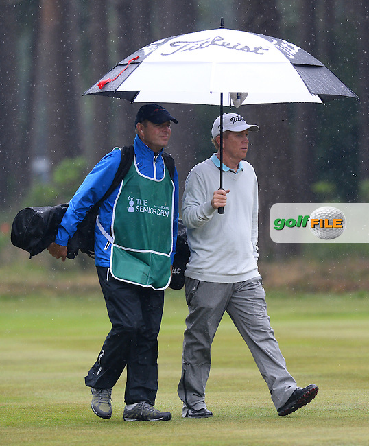 Jeff Hart of USA looks on during the Second Round of The Senior Open at Sunningdale Golf Club, Sunningdale, England. Picture: Golffile | Richard Martin-Roberts<br /> All photo usage must carry mandatory copyright credit (&copy; Golffile | Richard Martin- Roberts)