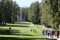 Soren Kjeldsen (DEN) walks down the 6th hole during Saturday's Round 3 of the 2018 Omega European Masters, held at the Golf Club Crans-Sur-Sierre, Crans Montana, Switzerland. 8th September 2018.<br /> Picture: Eoin Clarke | Golffile<br /> <br /> <br /> All photos usage must carry mandatory copyright credit (&copy; Golffile | Eoin Clarke)