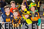 Austin Stacks children Tomas O'Connell, David Lynch, Tadhg Falvey, Liam O'Connell, Rory Lynch and Oliver Laga at Tralee Saint Patrick's day parade on Tuesday.