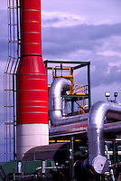 Natural Gas Refinery / Processing Plant near Fort Nelson, Northern BC, British Columbia, Canada