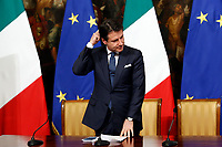 Giuseppe Conte, Italian Prime Minister<br /> Rome February 27th 2019. Press conference, plans to mitigate the iItalian geological instability.<br /> Foto Samantha Zucchi Insidefoto