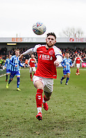 Fleetwood Town's Wes Burns<br /> <br /> Photographer Lee Parker/CameraSport<br /> <br /> The EFL Sky Bet League One - Fleetwood Town v Blackpool - Saturday 7th March 2020 - Highbury Stadium - Fleetwood<br /> <br /> World Copyright © 2020 CameraSport. All rights reserved. 43 Linden Ave. Countesthorpe. Leicester. England. LE8 5PG - Tel: +44 (0) 116 277 4147 - admin@camerasport.com - www.camerasport.com