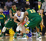 SIOUX FALLS, SD - MARCH 7:  North Dakota State players Kory Brown #22 and Carlin Dupree #3 fight John Konchar #4 of Fort Wayne for the ball in the 2016 Summit League Tournament.   (Photo by Dick Carlson/Inertia)