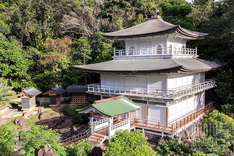 Kinkaku-ji Temple, Kyoto Gardens of Honolulu Memorial Park, Honolulu, O'ahu.