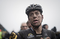 Tom Meeusen (BEL/Telenet-Fidea) after finishing the race<br /> <br /> UCI Cyclocross World Cup Namur/Belgium 2016