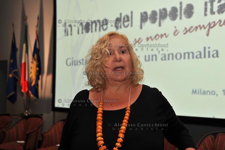 Giugno 2013, Milano: Gigliola Barbieri, collaboratrice di Enzo Tortora.<br /> Jun 2013, Milan: Gigliola Barbieri, assistant of Enzo Tortora.