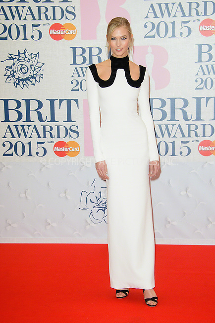 WWW.ACEPIXS.COM<br /> <br /> February 25 2015, London<br /> <br /> Karlie Kloss arriving at the Brit awards 2015 at the O2 Arena on February 25 2015 in London<br /> <br /> By Line: Famous/ACE Pictures<br /> <br /> <br /> ACE Pictures, Inc.<br /> tel: 646 769 0430<br /> Email: info@acepixs.com<br /> www.acepixs.com